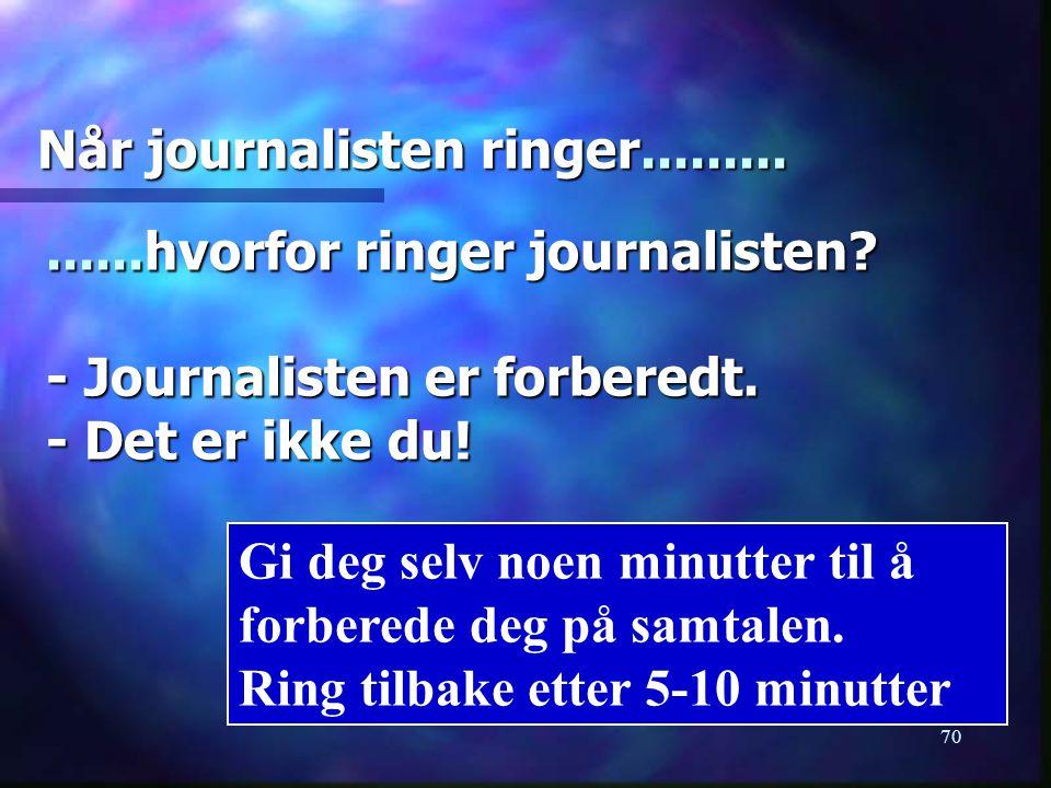 Når journalisten ringer.........