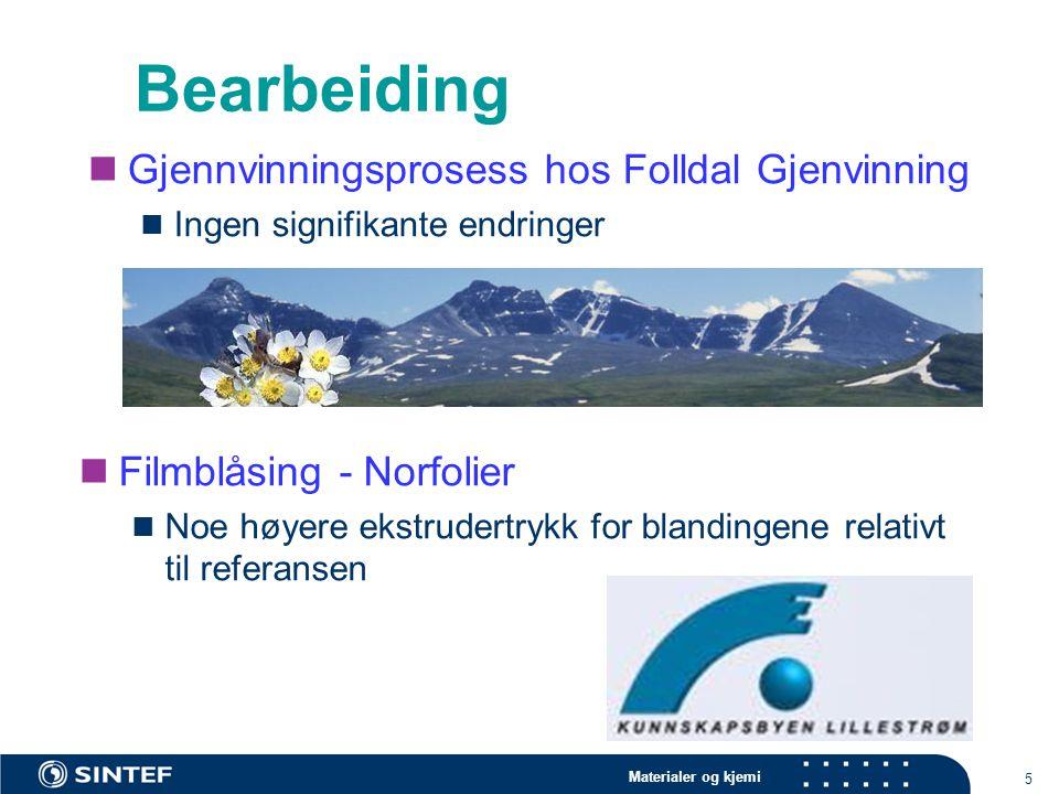 Bearbeiding Gjennvinningsprosess hos Folldal Gjenvinning