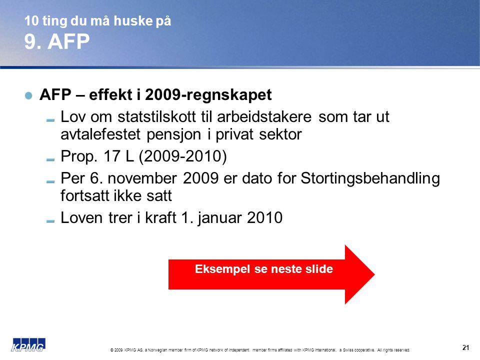Eksempel se neste slide