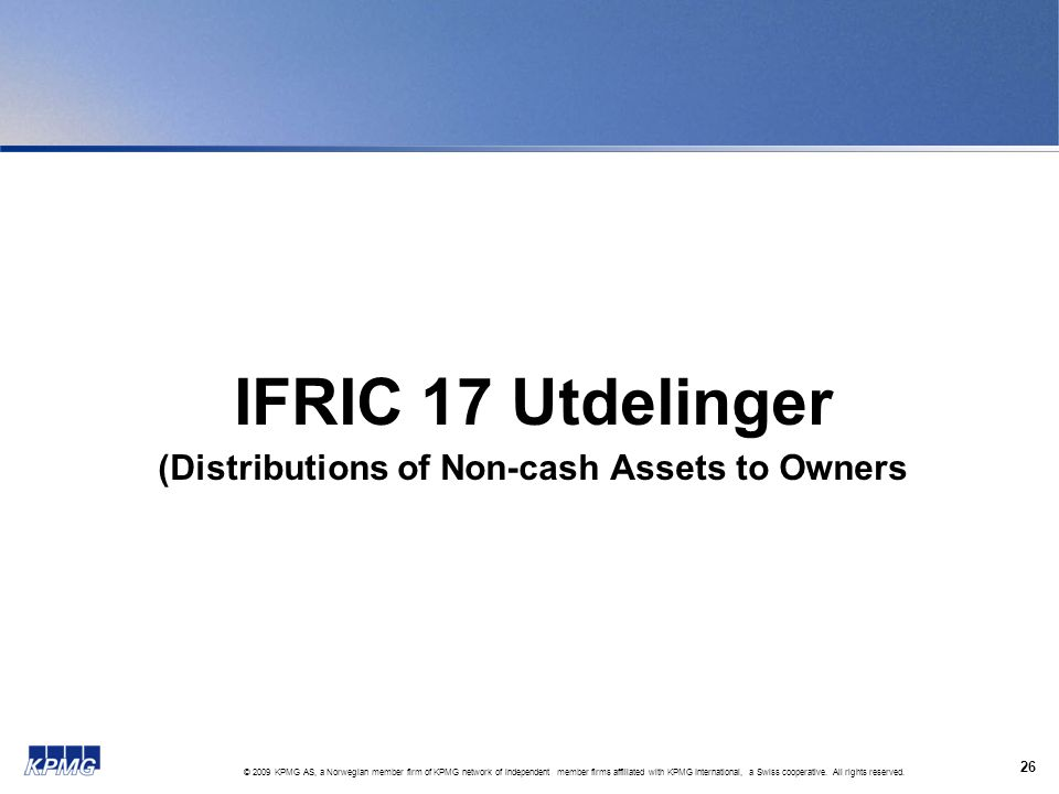 (Distributions of Non-cash Assets to Owners