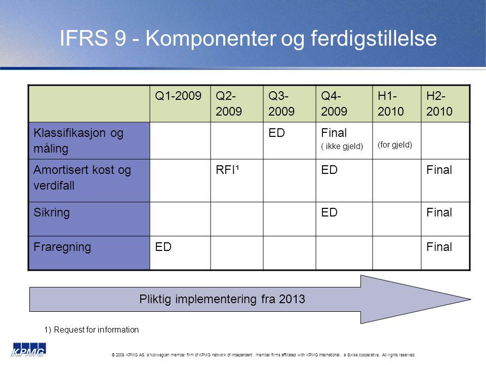 IFRS 9 - Komponenter og ferdigstillelse