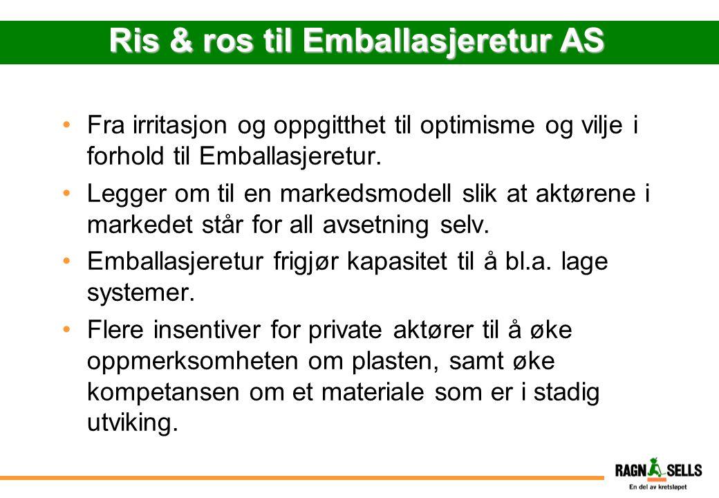 Ris & ros til Emballasjeretur AS