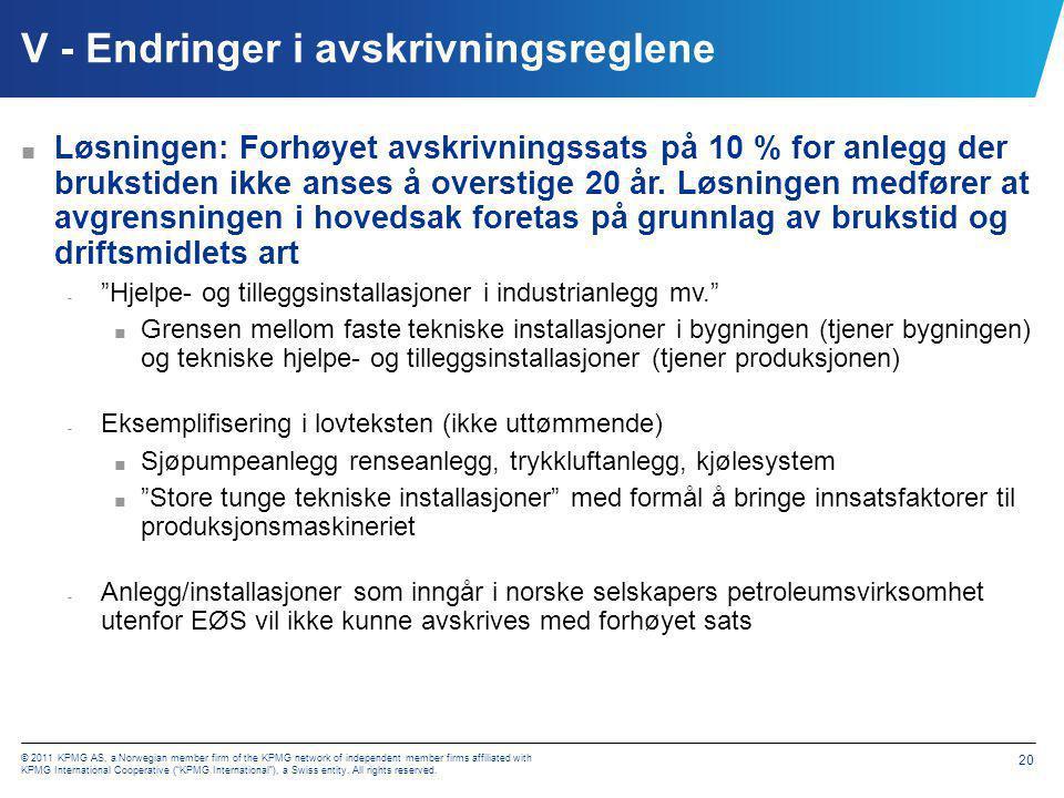 VI - Endringer i fritaksmetoden - treprosentregelen