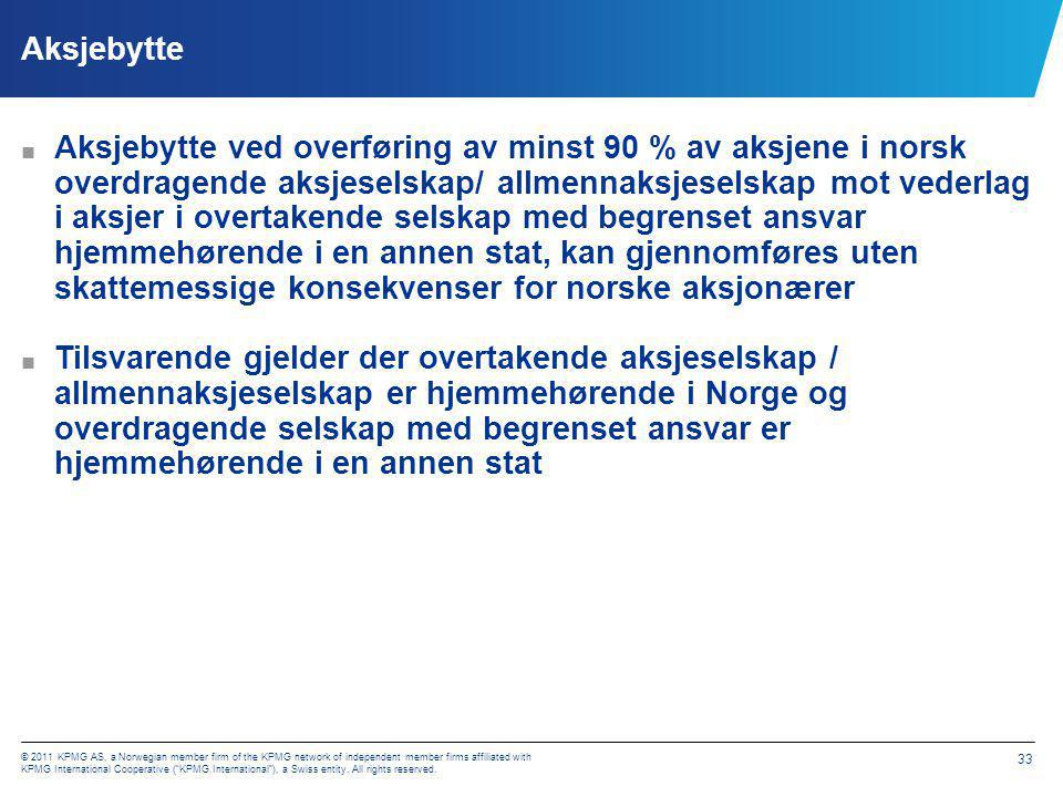 Norske aksjonærer i utenlandsk selskap Eiendeler m. m