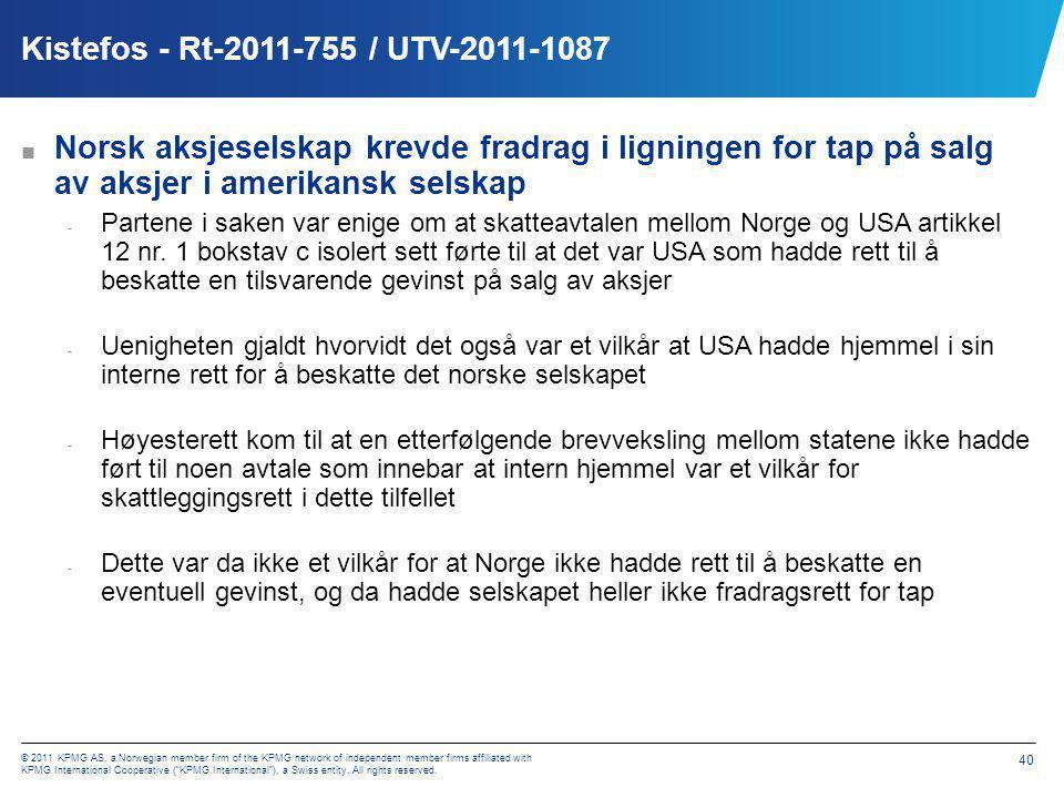 Allseas – HR-2011-1309-A / UTV-2011-1111