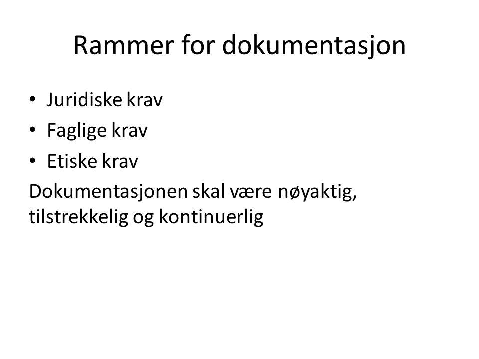 Rammer for dokumentasjon