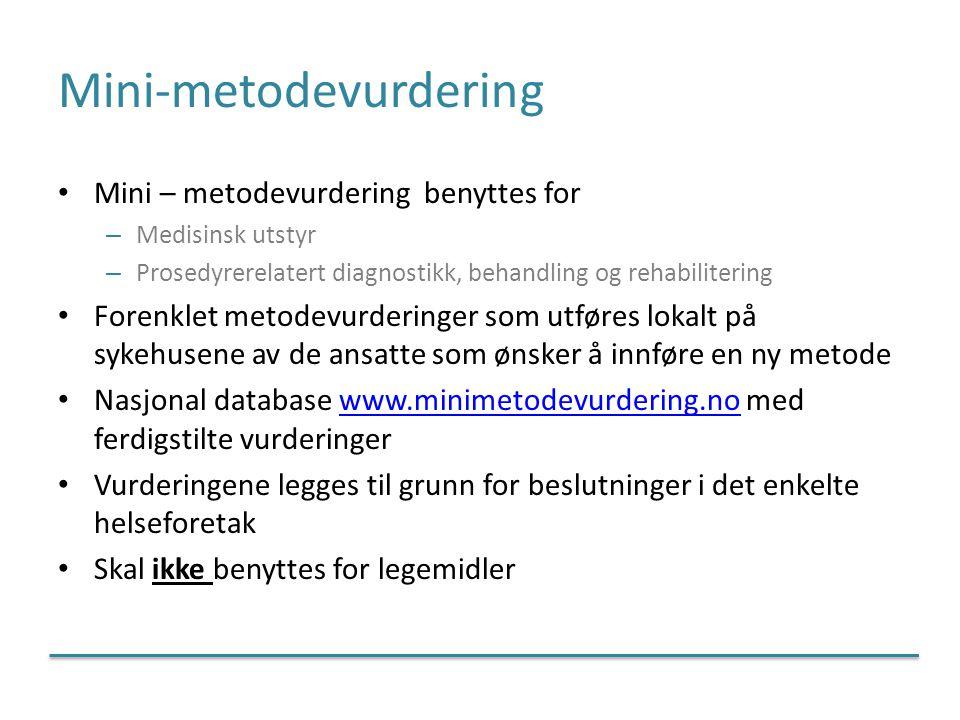 Mini-metodevurdering