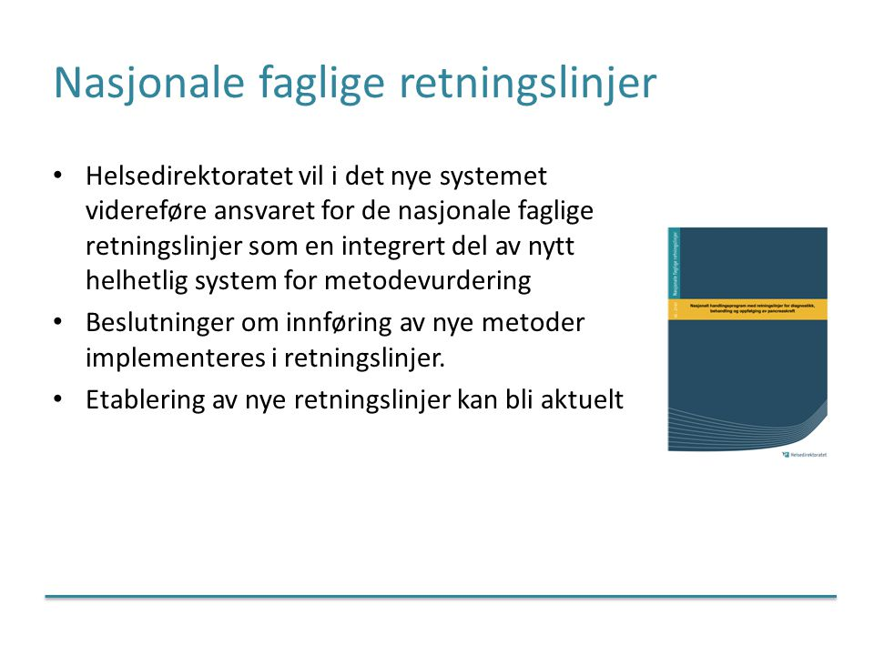 Nasjonale faglige retningslinjer