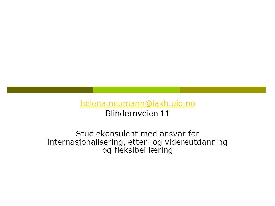 helena.neumann@iakh.uio.no Blindernveien 11.
