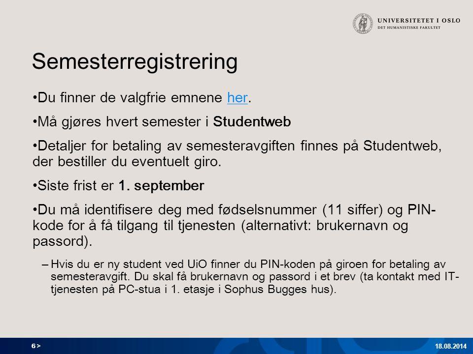 Semesterregistrering