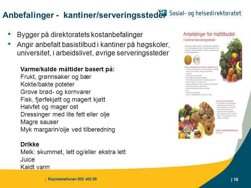 Anbefalinger - kantiner/serveringssteder