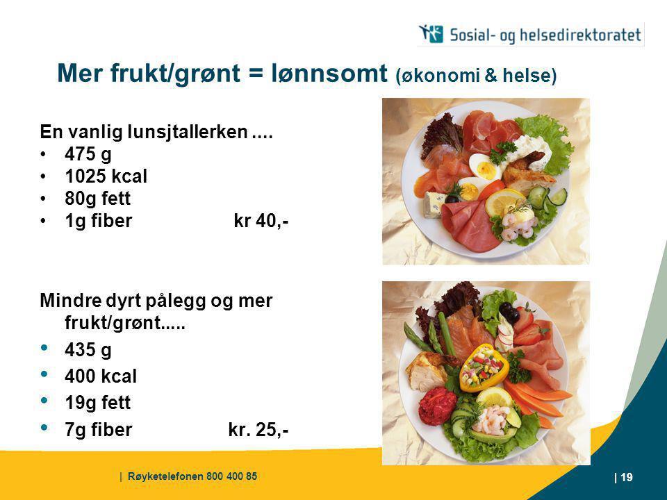 Mer frukt/grønt = lønnsomt (økonomi & helse)