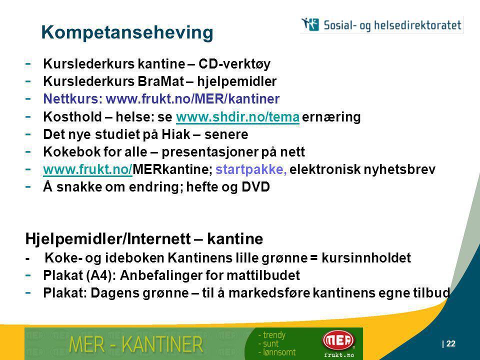 Kompetanseheving Hjelpemidler/Internett – kantine