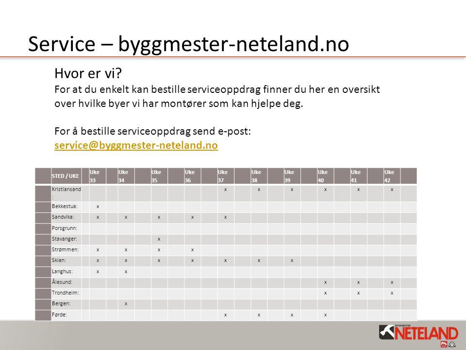 Service – byggmester-neteland.no