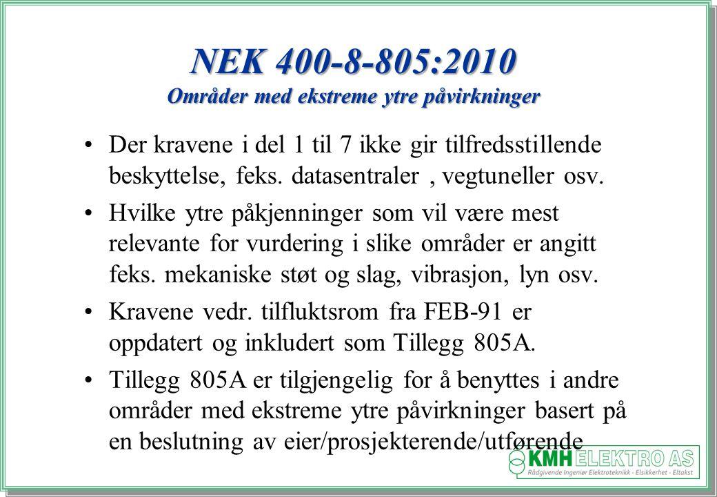 NEK 400-8-805:2010 Områder med ekstreme ytre påvirkninger