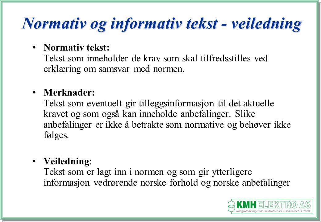 Normativ og informativ tekst - veiledning