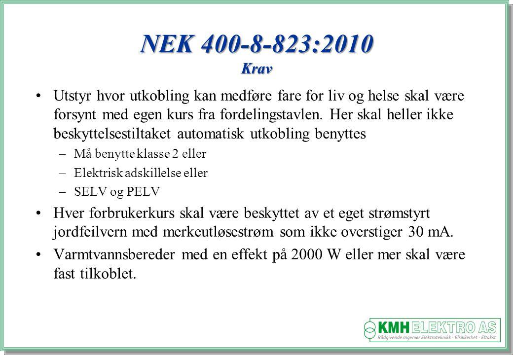 NEK 400-8-823:2010 Krav