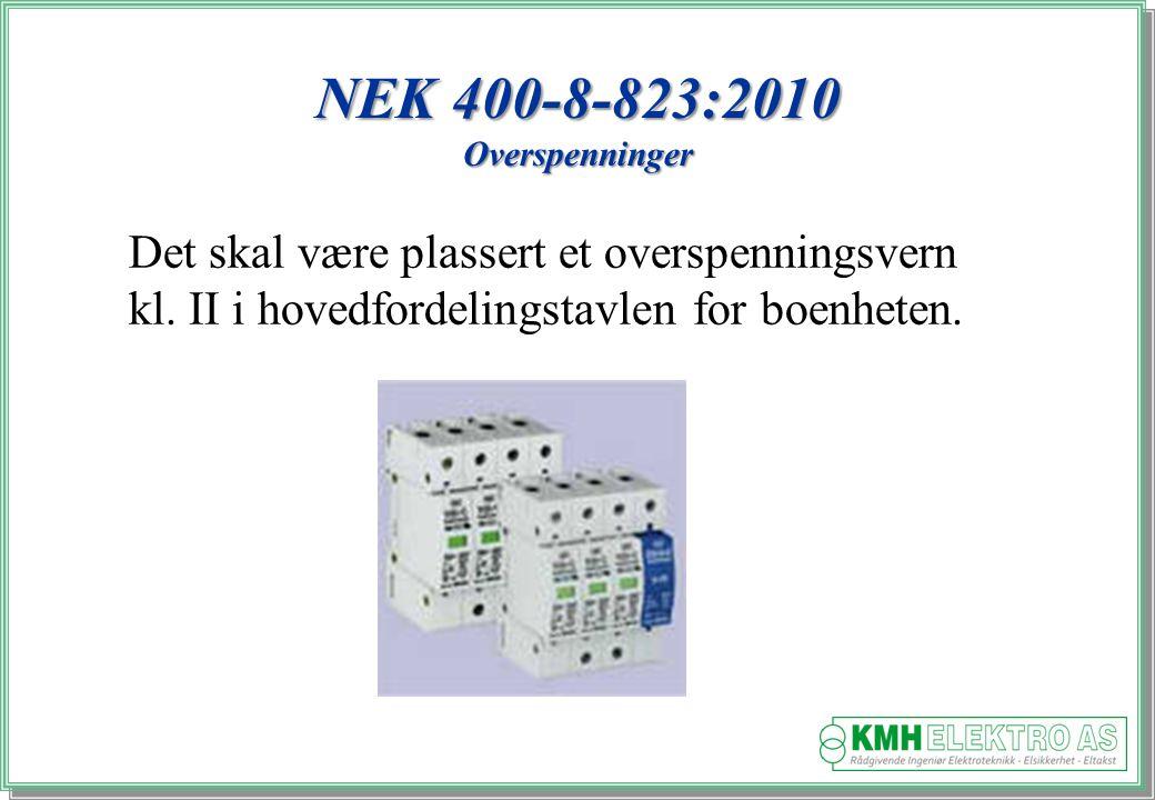 NEK 400-8-823:2010 Overspenninger
