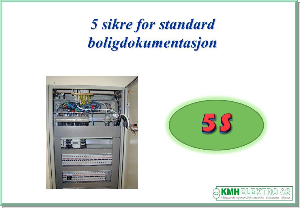 5 sikre for standard boligdokumentasjon