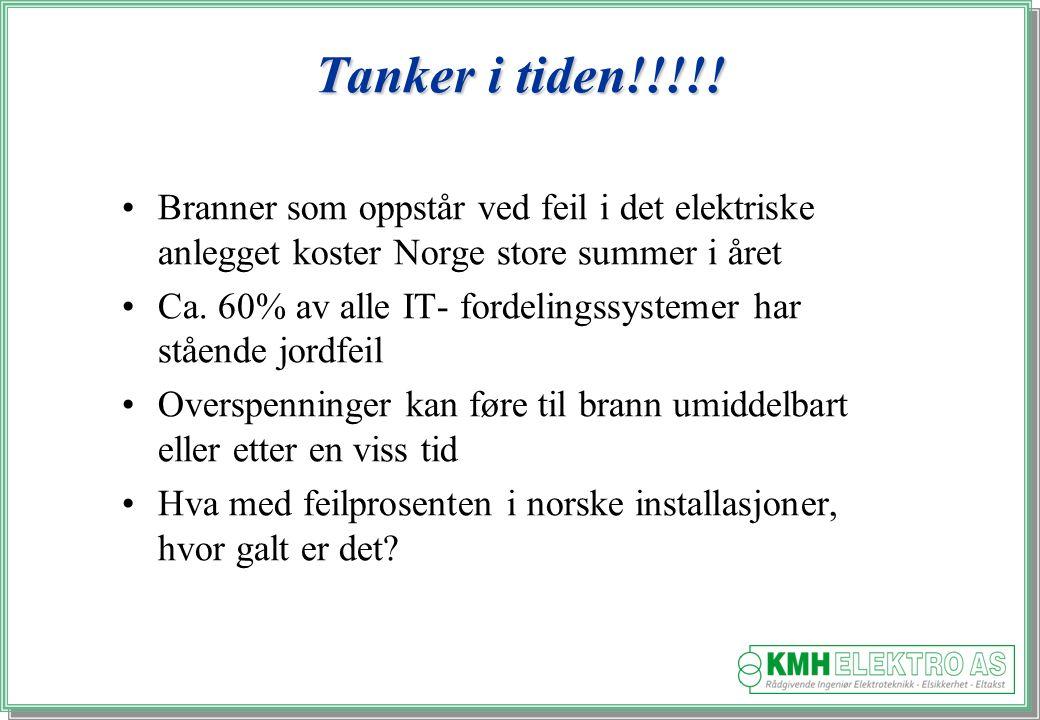 Tanker i tiden!!!!! Branner som oppstår ved feil i det elektriske anlegget koster Norge store summer i året.