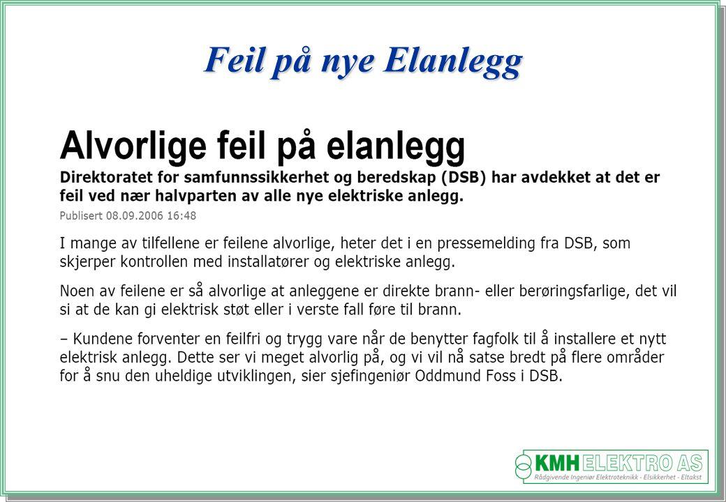 Feil på nye Elanlegg