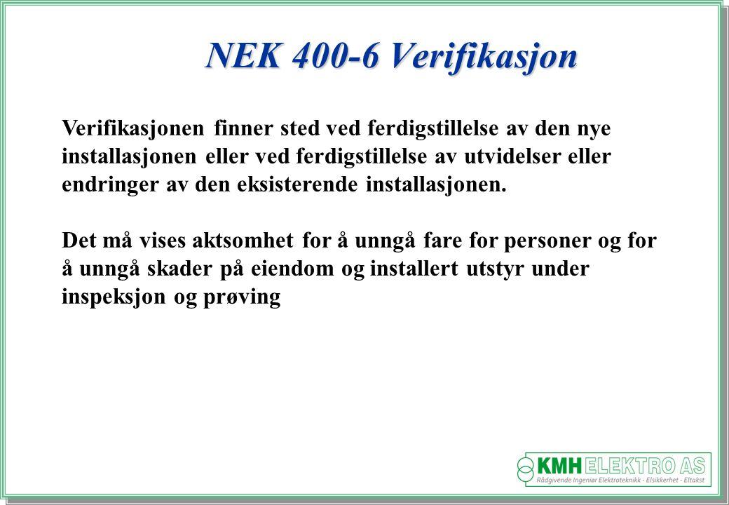 NEK 400-6 Verifikasjon