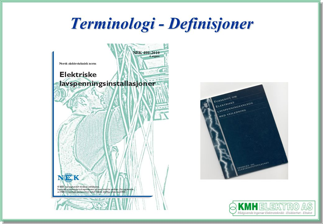 Terminologi - Definisjoner