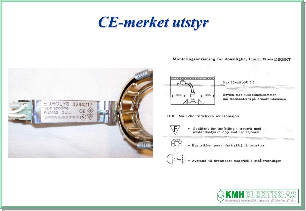 CE-merket utstyr