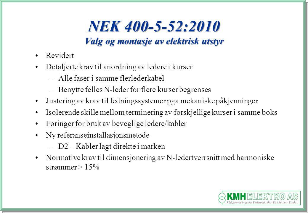 NEK 400-5-52:2010 Valg og montasje av elektrisk utstyr