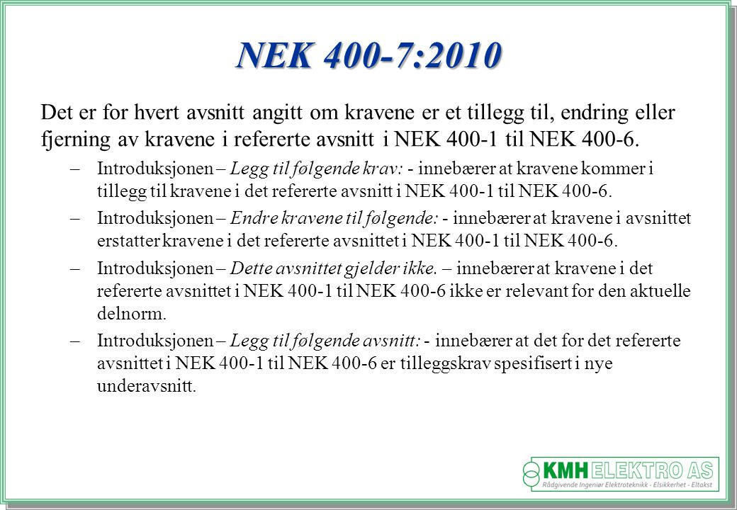 NEK 400-7:2010