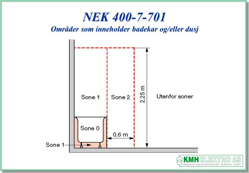 NEK 400-7-701 Områder som inneholder badekar og/eller dusj
