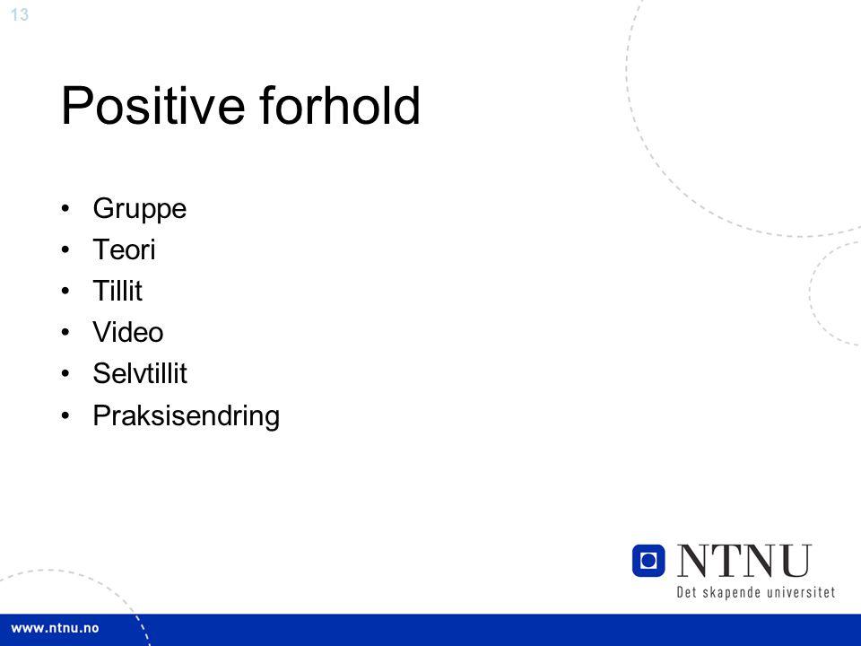 Positive forhold Gruppe Teori Tillit Video Selvtillit Praksisendring