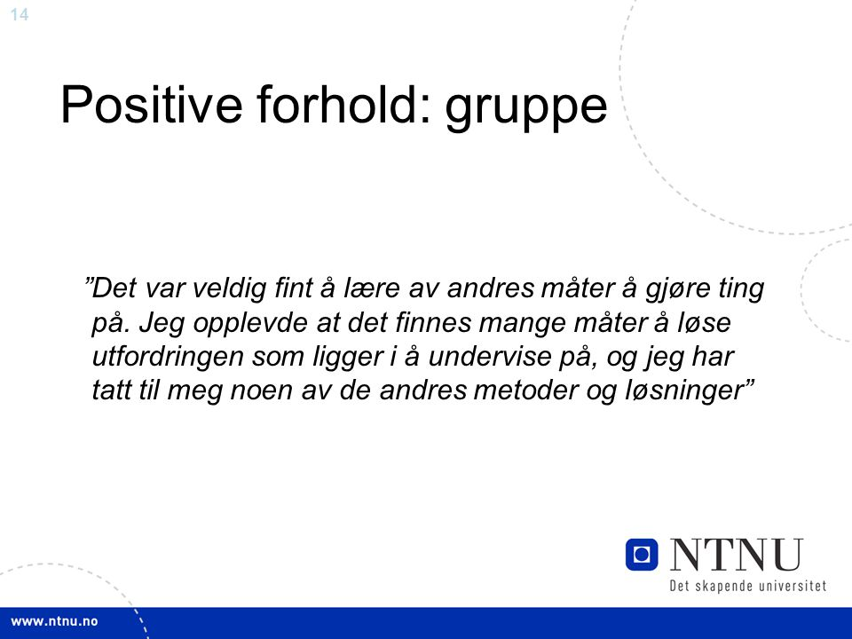 Positive forhold: gruppe