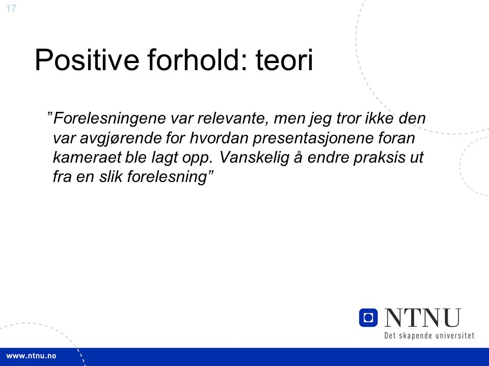 Positive forhold: teori