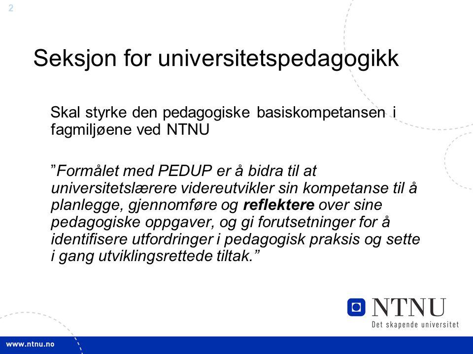 Seksjon for universitetspedagogikk
