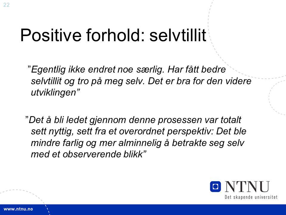 Positive forhold: selvtillit
