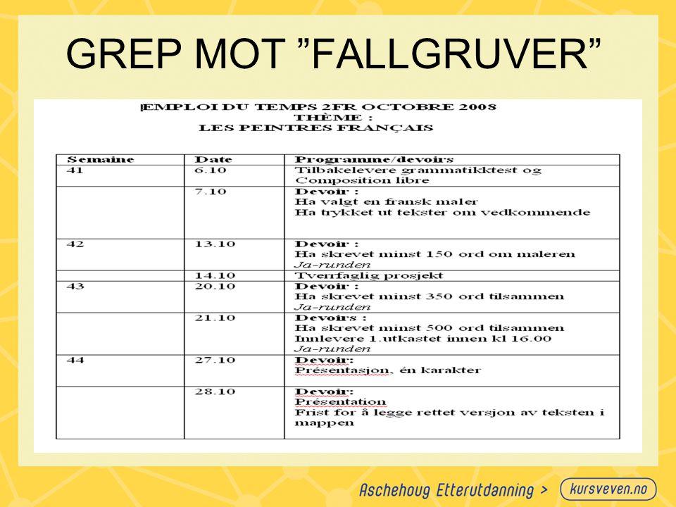 GREP MOT FALLGRUVER