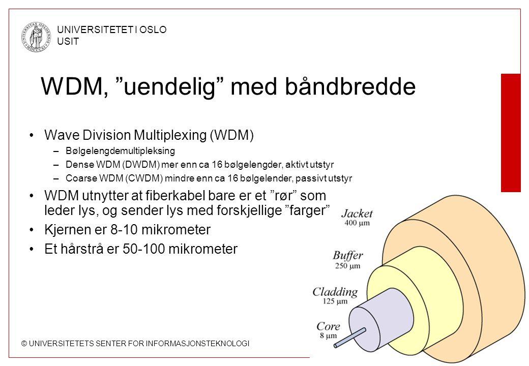WDM, uendelig med båndbredde