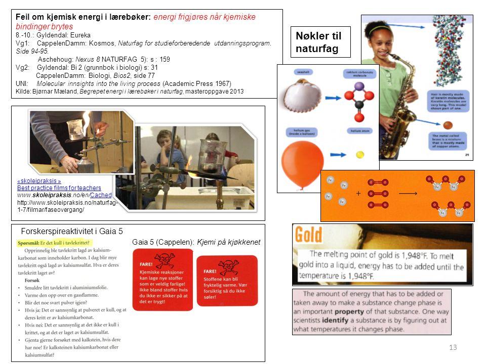 Feil om kjemisk energi i lærebøker: energi frigjøres når kjemiske bindinger brytes