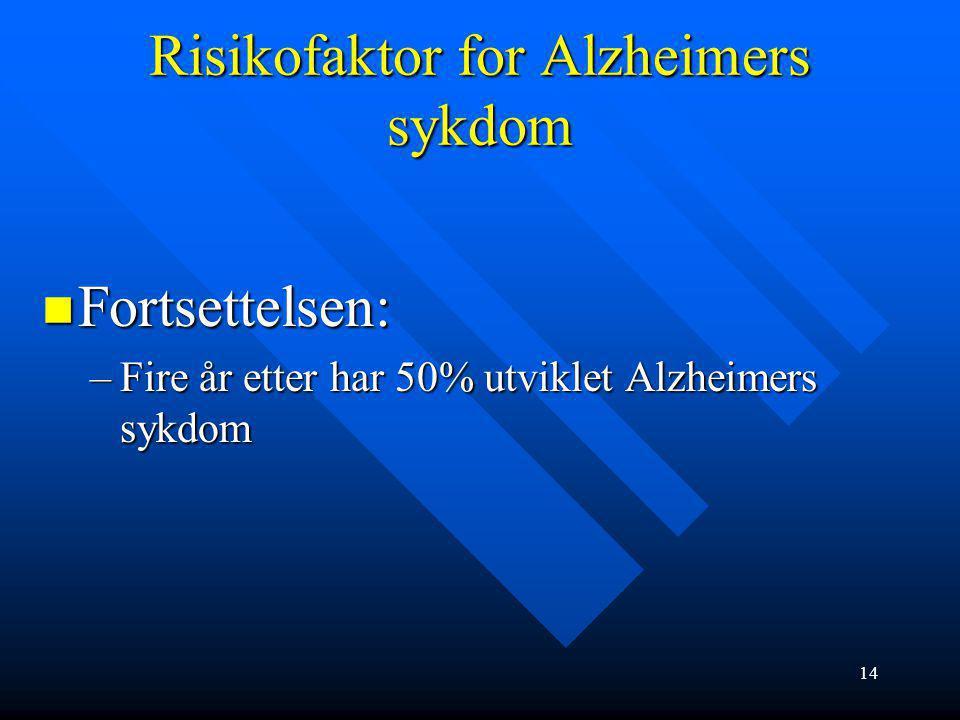 Risikofaktor for Alzheimers sykdom