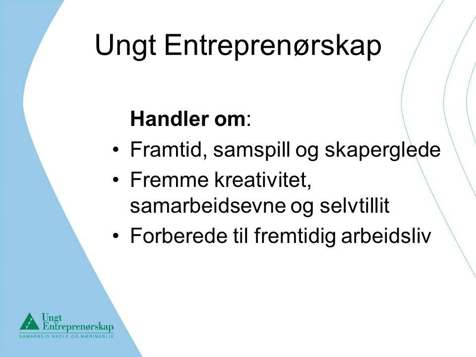Ungt Entreprenørskap Handler om: Framtid, samspill og skaperglede