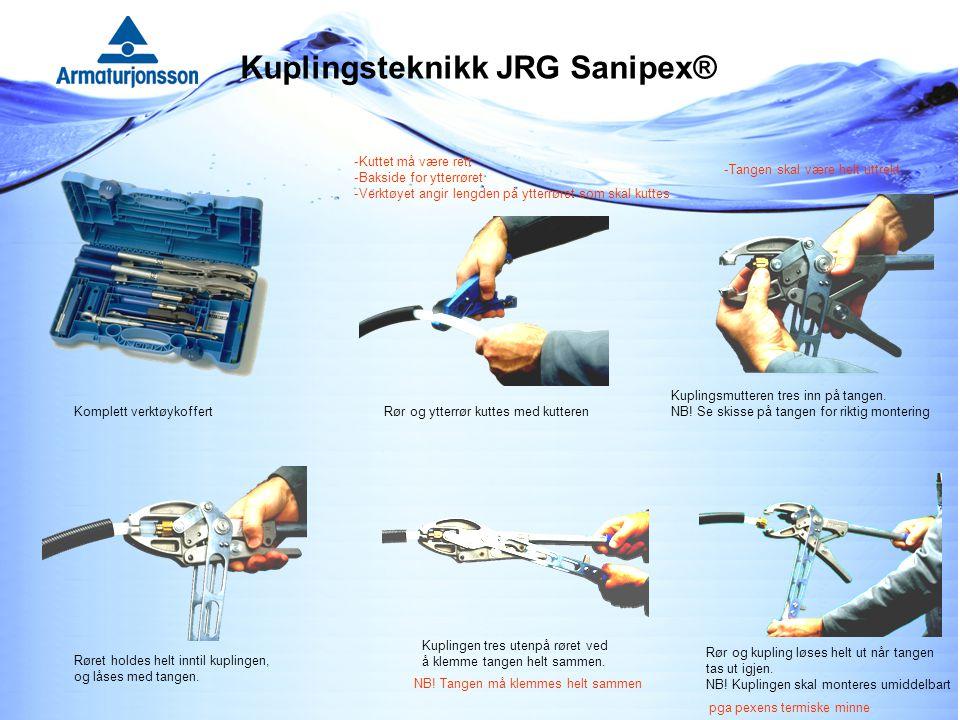 Kuplingsteknikk JRG Sanipex®