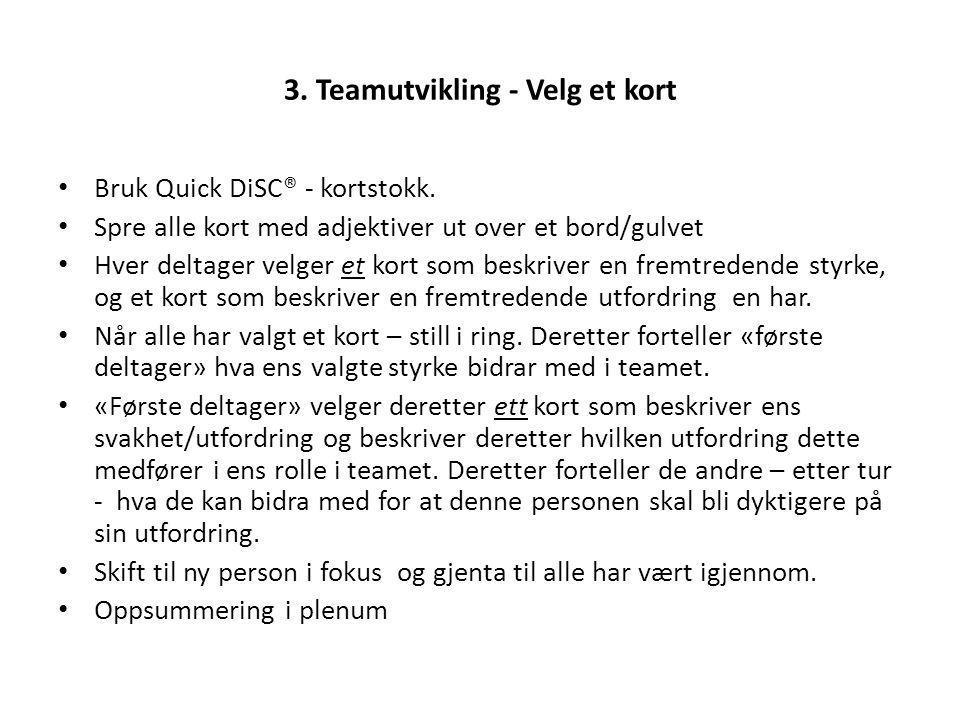 3. Teamutvikling - Velg et kort