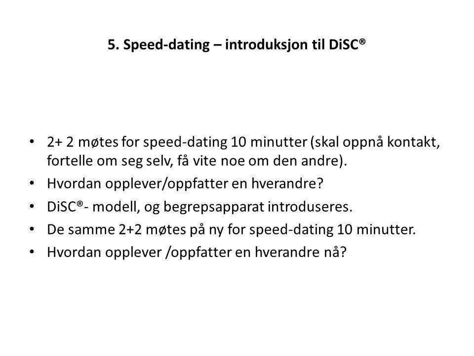 5. Speed-dating – introduksjon til DiSC®