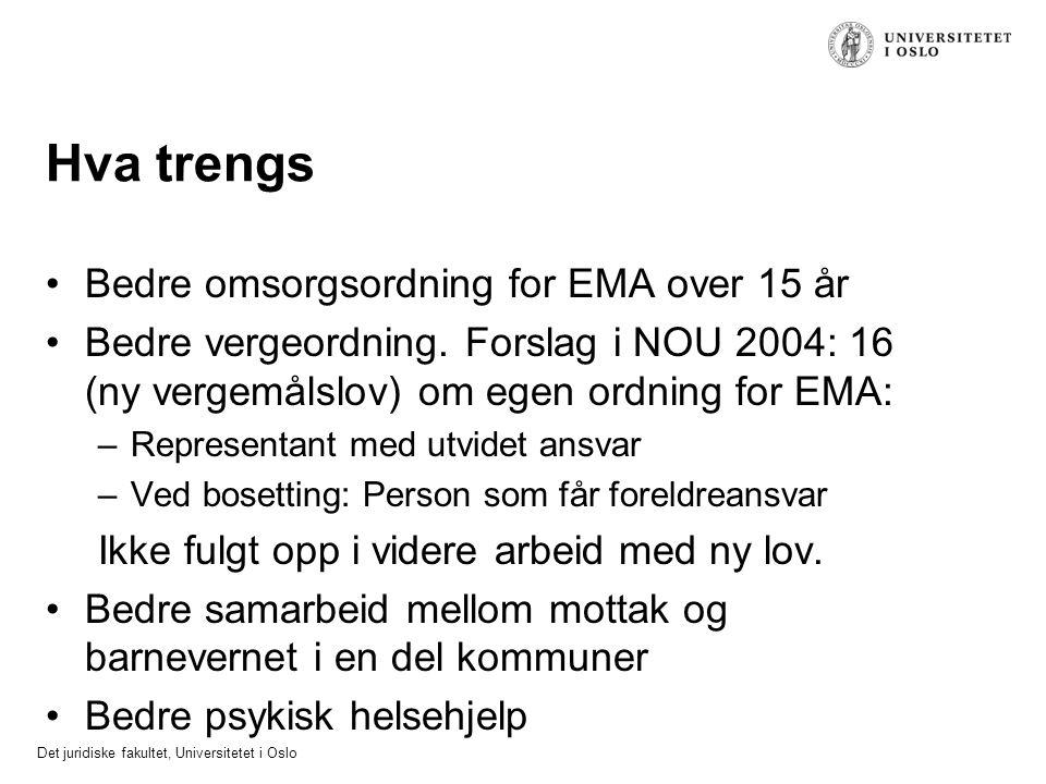 Hva trengs Bedre omsorgsordning for EMA over 15 år