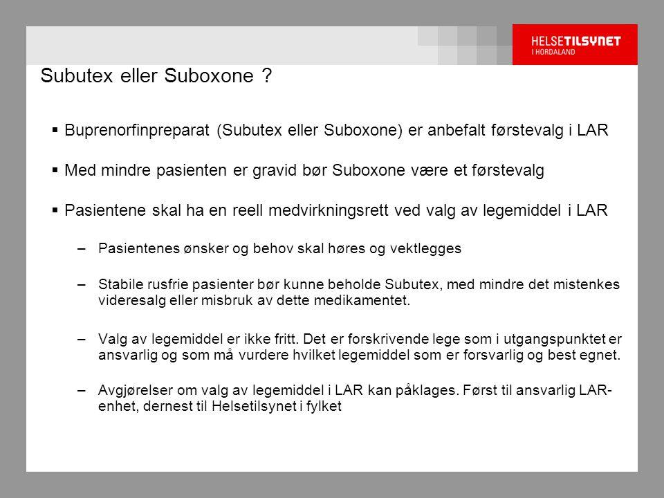 Subutex eller Suboxone