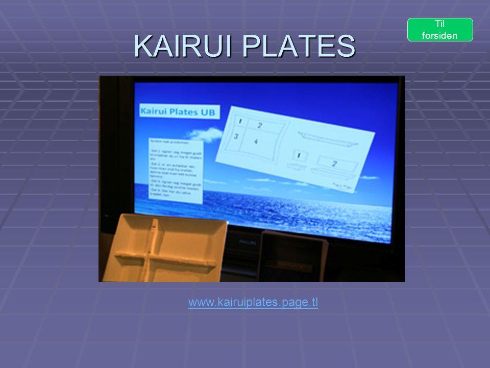 KAIRUI PLATES Til forsiden www.kairuiplates.page.tl