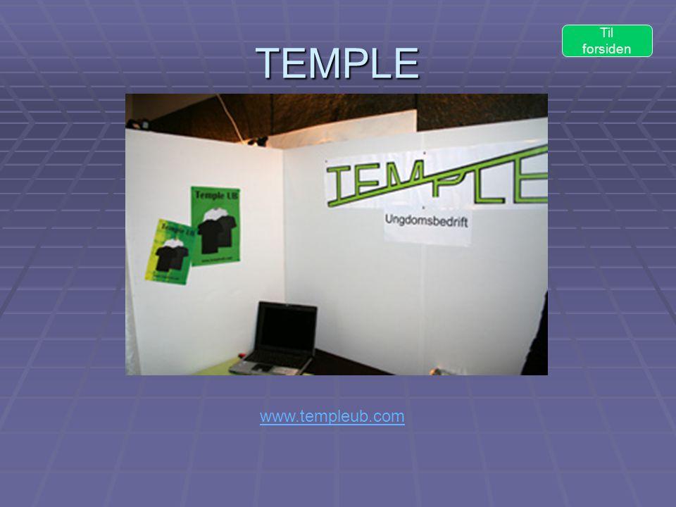 TEMPLE Til forsiden www.templeub.com