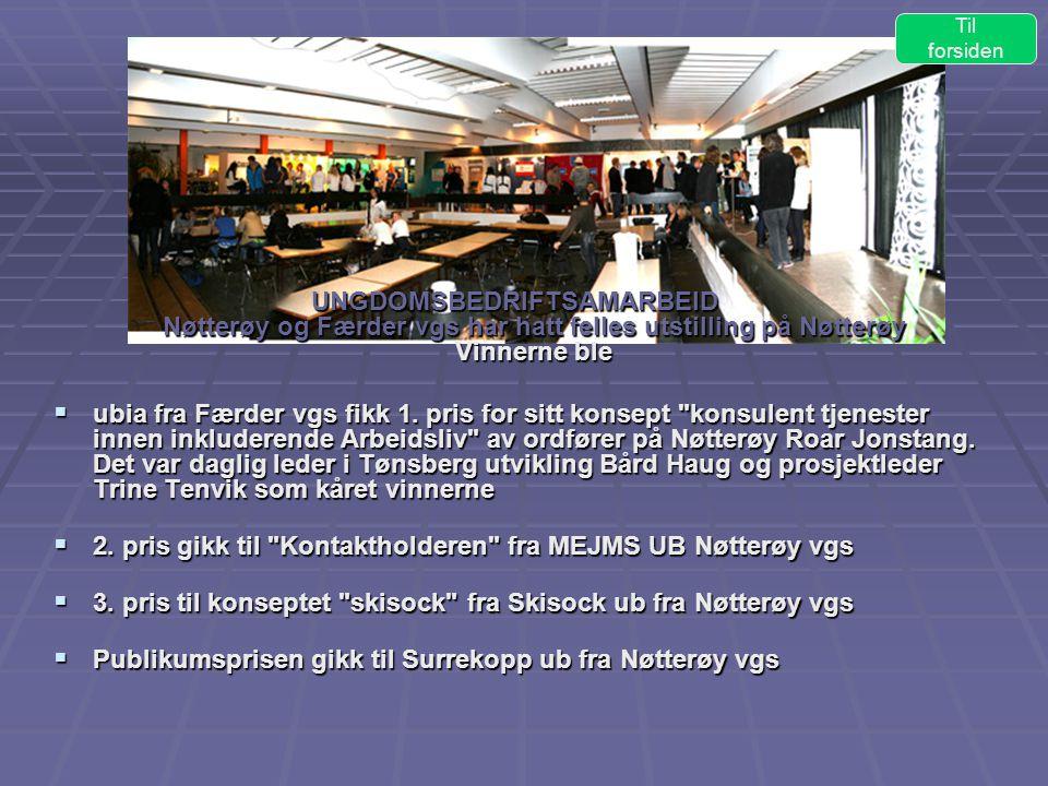 2. pris gikk til Kontaktholderen fra MEJMS UB Nøtterøy vgs