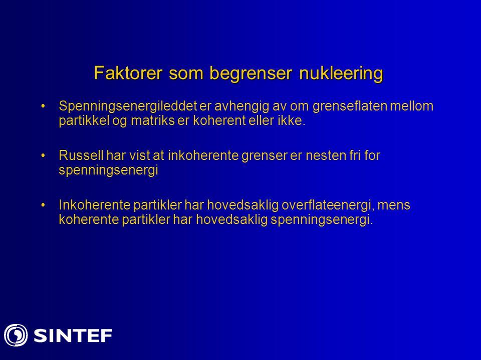 Faktorer som begrenser nukleering
